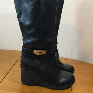 XTI Territory Wedge Boots Black Size 7